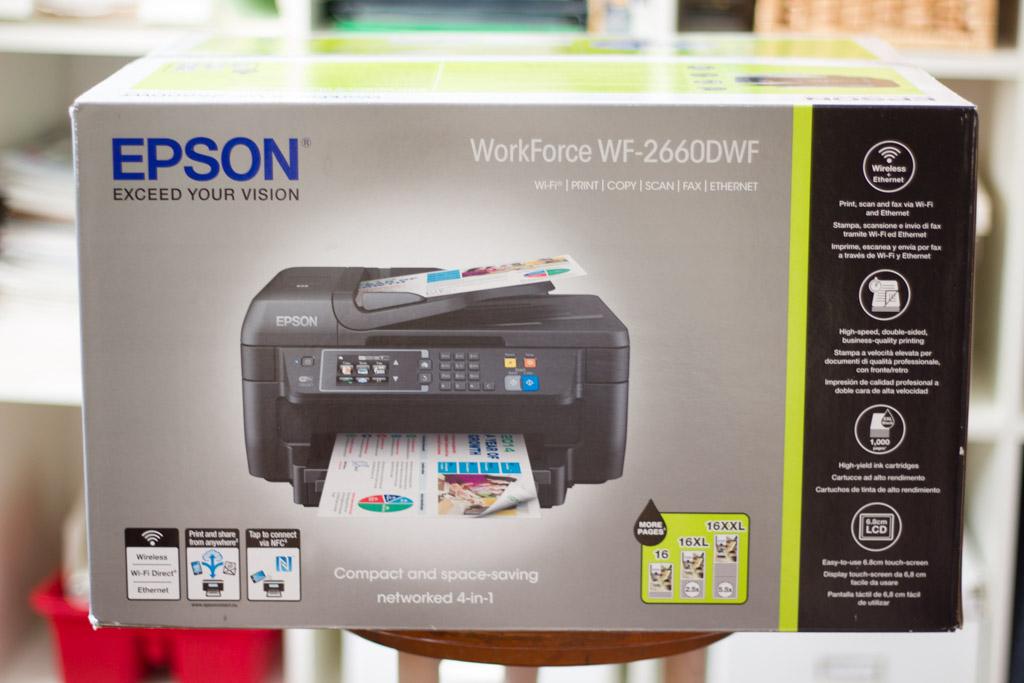Epson Workforce 2660 DWF Box und Verpackung